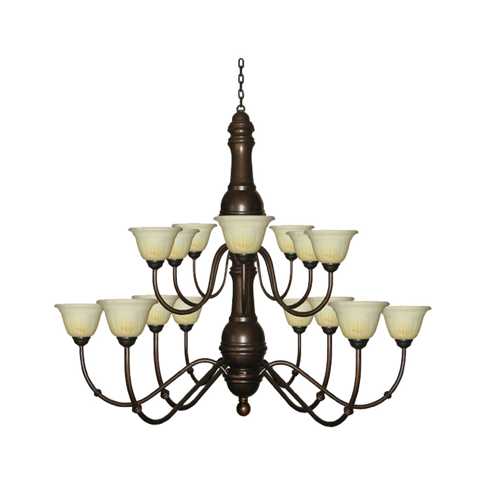 Tectona 16 Light Chandelier With Glass Cups