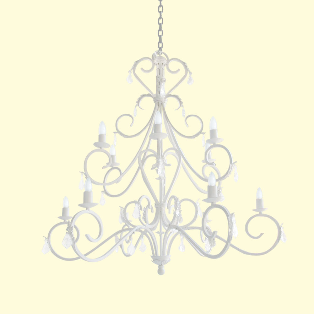Fairytale 12lt chandelier fernscrystals with candle sleeves fairytale 12lt chandelier aloadofball Choice Image