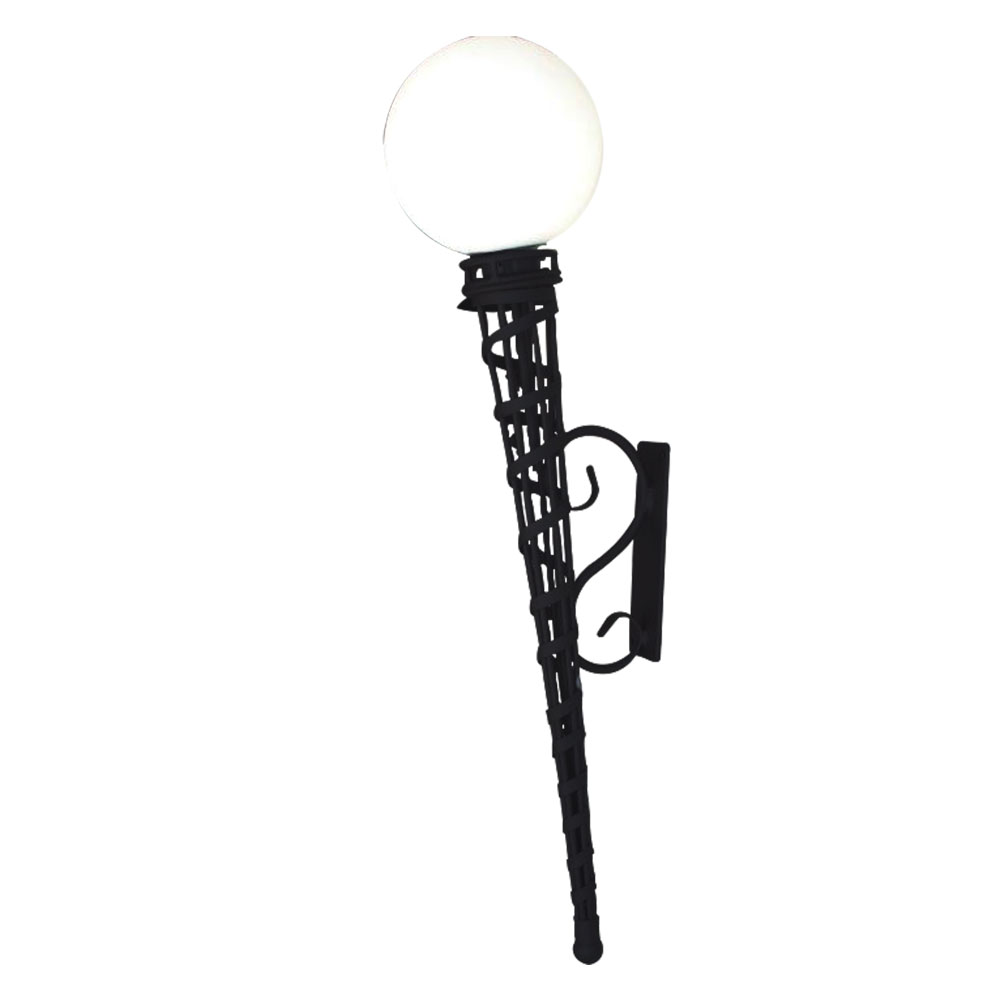 Torch wall light long with poly sphere top image lighting torch wall light aloadofball Choice Image