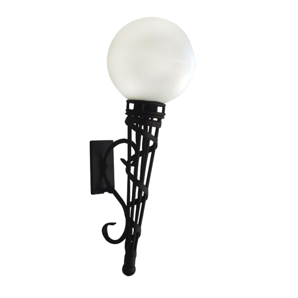 Torch wall light short with poly sphere top image lighting torch wall light aloadofball Gallery